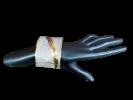 Women's designer cuff bracelet bangle with glitter work. jelwellery