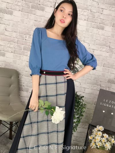 3507 Square Neck Sleeved Top 【VALUE BUY】