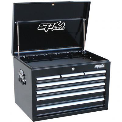 SP TOOLS CUSTOM SERIES TOOL BOX - 7 DRAWER - DEEP - BLACK/CHROME SP40102