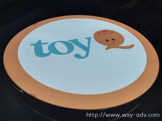 toy Q Aluminium Box Up Signage