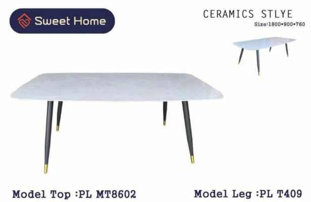 Ceramic Types Dining Table with Chairs