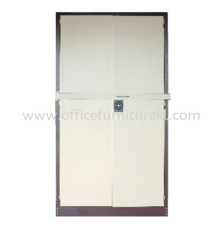 A118LB FULL HIGH STEEL SWINGING DOOR CUPBOARD WITH LOCKING BAR