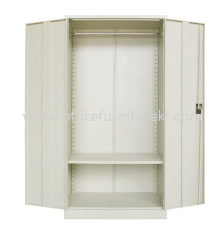 A200 FULL HIGH STEEL WADROBE SWINGING DOOR WITH 1 ADJUSTABLE SHELVE & 1 HANGING BAR