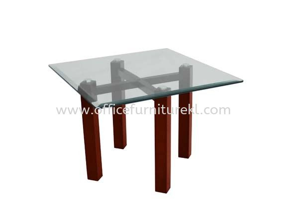 NEXUS SET SQUARE COFFEE TABLE C/W TEMPERED GLASS TABLE TOP ACL 7711-6T