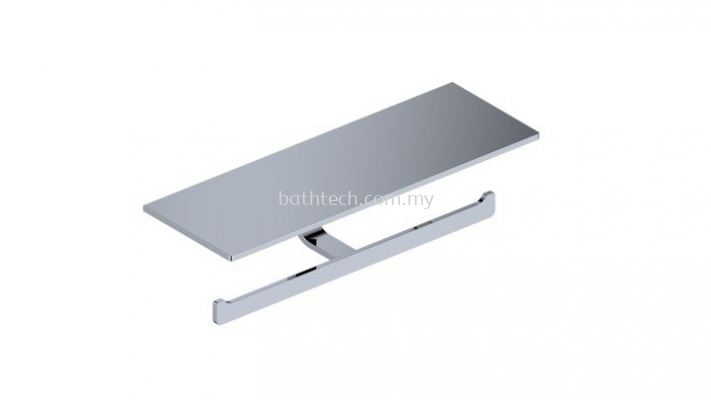 Commercial Double Toilet Roll Holder With Shelf (100368)