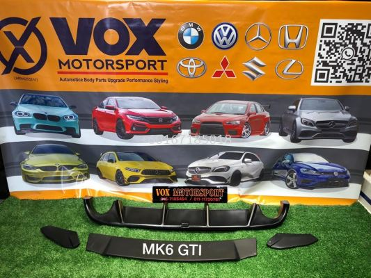 revozport rear diffuser for volkswagen golf mk6 gti replace upgrade performance look brand new set