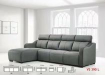 Super Leather L Shape Sofa Online - Fabrics and Super Leather BLUE