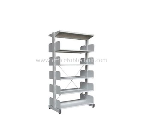 A325W LIBRARY SHELVING DOUBLE SIDED WITHOUT SIDED PANEL  5 SHELVING