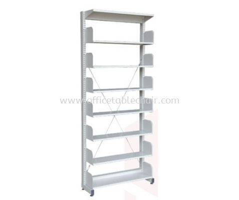 A317W LIBRARY SHELVING SINGLE SIDED WITHOUT SIDE PANEL AND 7 SHELVING
