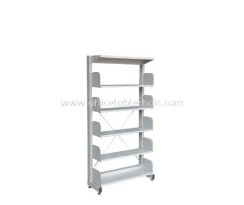 A315W LIBRARY SHELVING SINGLE SIDED WITHOUT SIDE PANEL AND 5 SHELVING
