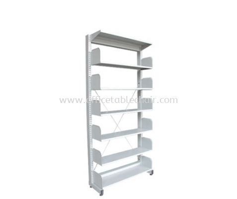 A316W LIBRARY SHELVING SINGLE SIDED WITHOUT SIDE PANEL AND 6 SHELVING