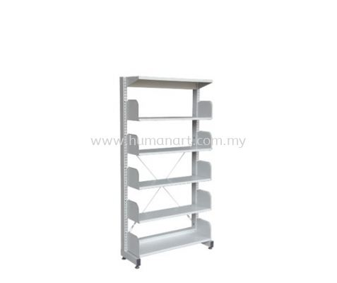 LIBRARY SHELVING SINGLE SIDED WITHOUT SIDE PANEL AND 5 SHELVING