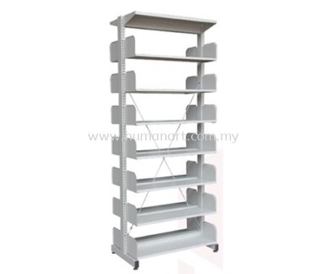 A327W LIBRARY SHELVING DOUBLE SIDED WITHOUT SIDE PANEL AND 7 SHELVING