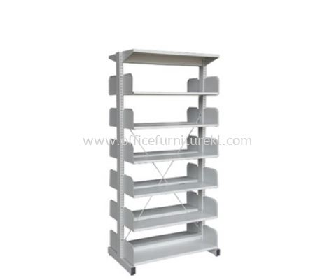 A326W LIBRARY SHELVING DOUBLE SIDED WITHOUT SIDE PANEL AND 6 SHELVING