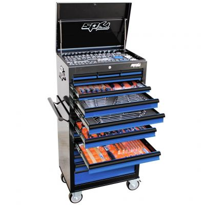 SP TOOLS CUSTOM SERIES TOOL KIT - 377PC - METRIC/SAE - BLUE/BLACK SP50110BL