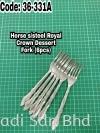 Royal Crown Dessert Fork 6pcs (Stainless Steel) Fork Kitchen Tools