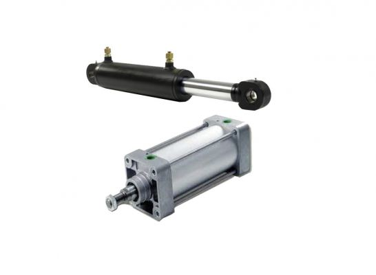 Hydraulic and Pneumatic Cylinders - Customize base on sample or drawing; design base on applications