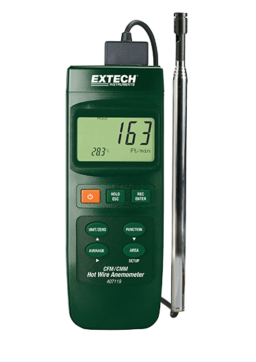 EXTECH 407119 : Heavy Duty CFM Hot Wire Thermo-Anemometer