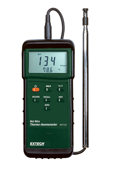 EXTECH 407123 : Heavy Duty Hot Wire Thermo-Anemometer