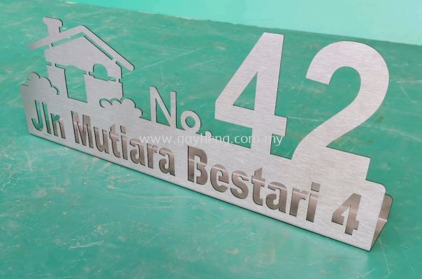 Stainless Steel House Number Plate ������