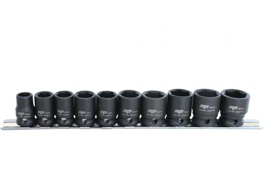 "SP TOOLS 3/8""DR IMPACT SOCKET RAIL SET - 6PT METRIC - 10PC SP20250"