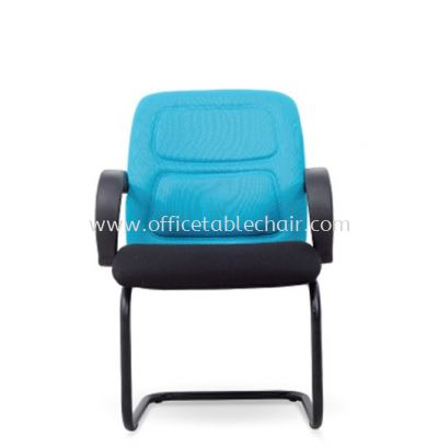 ERSA STANDARD VISITOR ARM FABRIC CHAIR WITH EPOXY BLACK CANTILEVER BASE