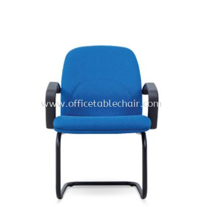 PERSICA STANDARD VISITOR ARM FABRIC CHAIR C/W EPOXY BLACK CANTILEVER BASE