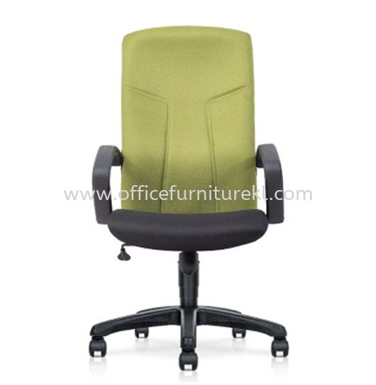 MALLIS STANDARD HIGH BACK FABRIC CHAIR C/W POLYPROPYLENE BASE