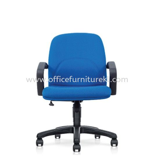 PERSICA STANDARD LOW BACK FABRIC CHAIR WITH POLYPROPYLENE BASE