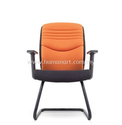 SALVIA STANDARD VISITOR ARM FABRIC CHAIR C/W EPOXY BLACK CANTILEVER BASE