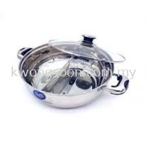TOFFI SINGLE DUAL STEAMBOAT POT STAINLESS STEEL