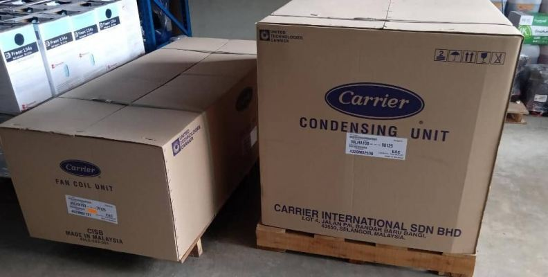 CARRIER DUCTD AIR-COOLED SPLIT CONDENSING (38LHA) FAN COIL (40LHA) 50HZ