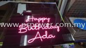 Birthday Wishes With LED Neon Signage LED SIGNAGE SIGNAGE