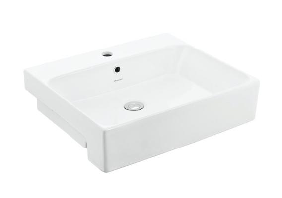 Gemelli 550 Rectangular Semi-Recessed Basin-1TH