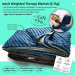 Adult Weighted Compression Therapy Blanket (6.7kg) ~ Helps With Anxiety & Prolong Sleep Times