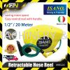 """ISANO IHRE220 HOSE REEL WITH RETRACTABLE FUNCTION 1/2"""" X 20M (ORIGINAL ITALY HOSE) Hose Reel Agriculture & Gardening"""