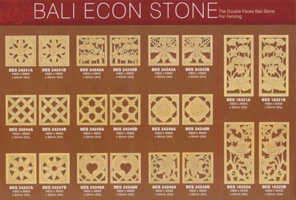 Bali Stone Series Pattern Catalog