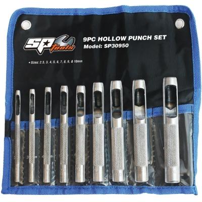 SP TOOLS HOLLOW PUNCH SET - 9PC SP30950