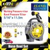 "ISANO  IHR99-115 HOSE REEL SET WITH ACCESSORIES 5/16"" X 11.5M HOSE Hose Reel Agriculture & Gardening"