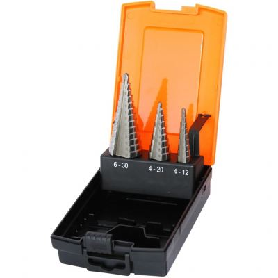 SP TOOLS STEP DRILL BIT SET - HSS METRIC - 3PC SP31398