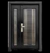 D4-434L Stainless Steel Series Deluxe Security Door  Doors