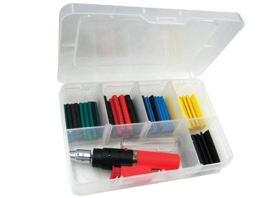 SP TOOLS HEAT SHRINK TUBE KIT WITH GAS TORCH - 65PC SP32293