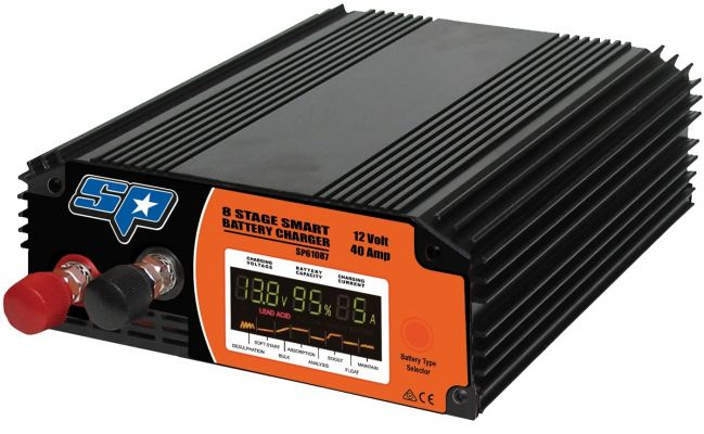 SP TOOLS 8 STAGE 40 AMP SMART BATTERY CHARGER SP61087