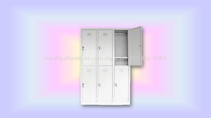 6 COMPARTMENT STEEL LOCKER (RM 758.00/UNIT)