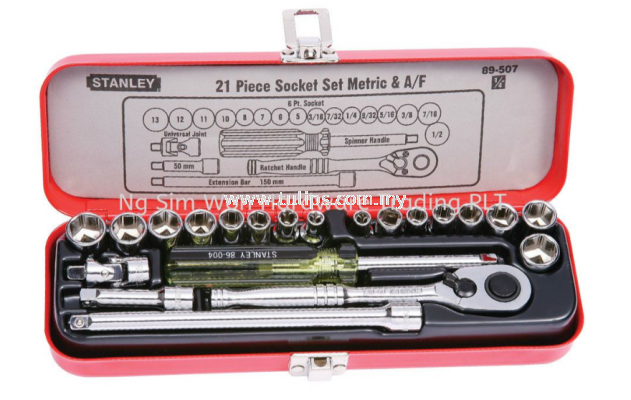 "21-Piece 1/4"" Drive Socket Set"