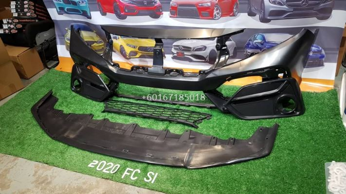 facelift si front bumper pp fit for honda civic fc replace upgrade performance look brand new set