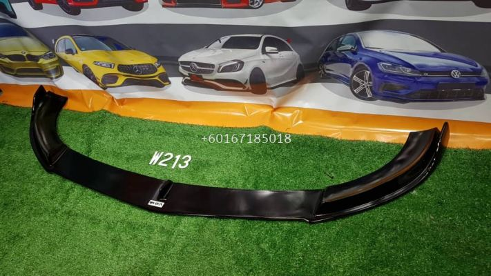 w213 fd style front lip diffuser gloss black fit for mercedes benz w213 e class amg add on upgrade performance look brand new