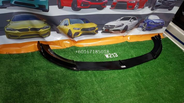 w213 front lip diffuser carbon fiber fit for mercedes benz w213 e class amg add on upgrade performance look brand new