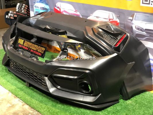 new si bodykit pp fit for honda civic fc replace upgrade performance look brand new set