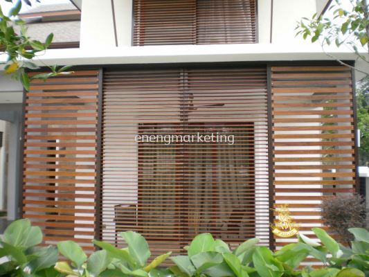 MSDG 03- Mild Steel Combination Chengal Timber Grille
